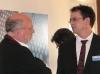 Hubertus von Amelunxen, Präsident der Hochschule für Bildende Künste, im Gespräch mit Rolf F. Nohr, Leiter des Forschungsprojekts