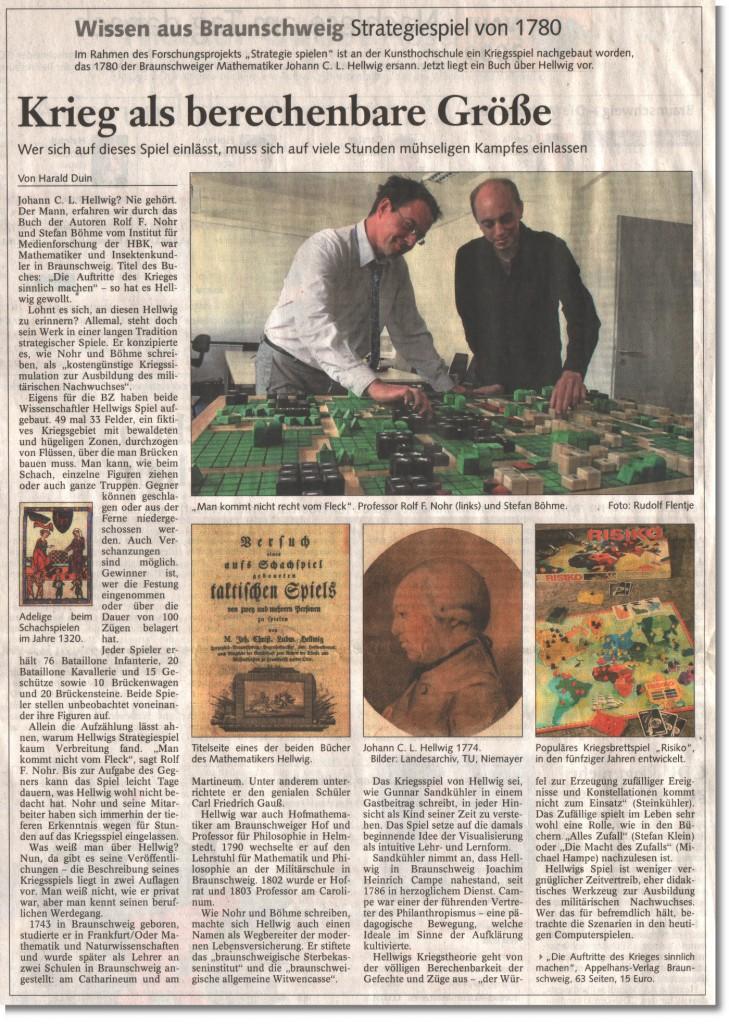 Braunschweiger Zeitung vom 29.09.2009
