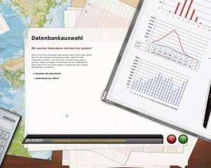 """Datenbankauswahl - Screenshot aus """"Fußball Manager 10"""" von EA Sports"""