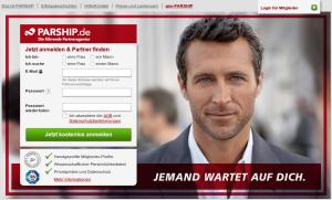 Ausschnitt aus der Startseite von PARSHIP (Quelle: http://www.parship.de)