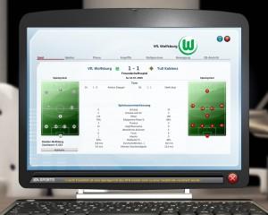 """Spielübersicht - Screenshot aus """"Fußball Manager 10"""" von EA Sports"""